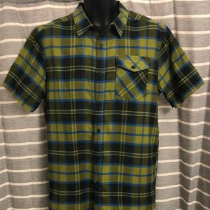 Mountain Hardwear Plaid Short Sleeve Shirt